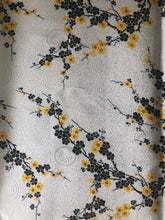 Load image into Gallery viewer, Blue Cherry Blossom Silk-Like Fabric 1/2 Yard