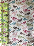 Bird Print Quilting Cotton 1/2 Yard