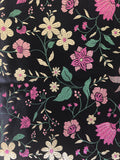 Back Floral Silk-Like Fabric