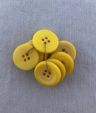 Load image into Gallery viewer, Vintage Set of 9 Yellow Buttons