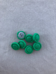 Vintage Set of 7 Green Fabric Buttons