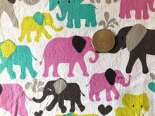 Load image into Gallery viewer, Colorful Elephant Cotton Fabric 1/2 Yard
