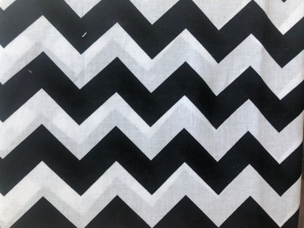 Black and White Chevron Cotton