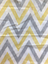 Load image into Gallery viewer, Yellow & Grey Chevron Cotton 1 Yard