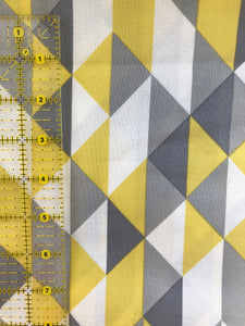Yellow and Grey Geometric Cotton 1 Yard