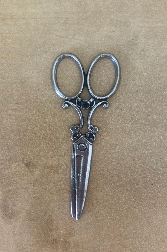 Silver Plated Scissor Charms