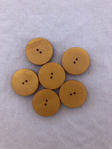 Set of 6 Golden Colored Round Buttons