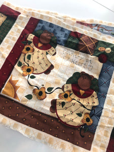 Bear Fabric Panel Odd Cut