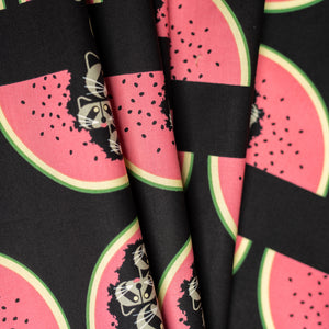 Organic Watermelon Moon Cotton Poplin