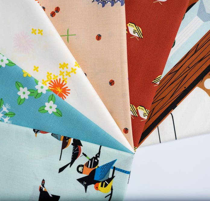 Fat Quarter Bundle Sierra Range Charley Harper Organic Cotton Poplin