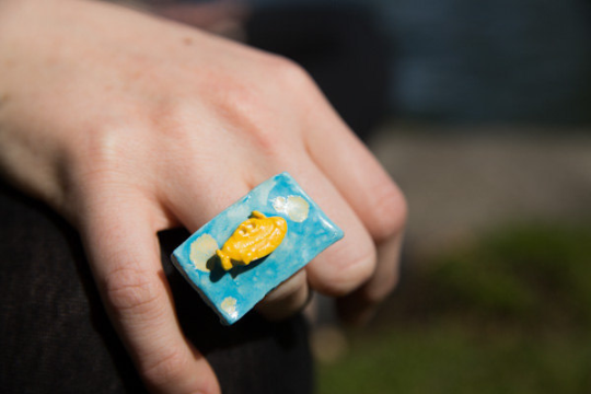 Ceramic Submarine Ring