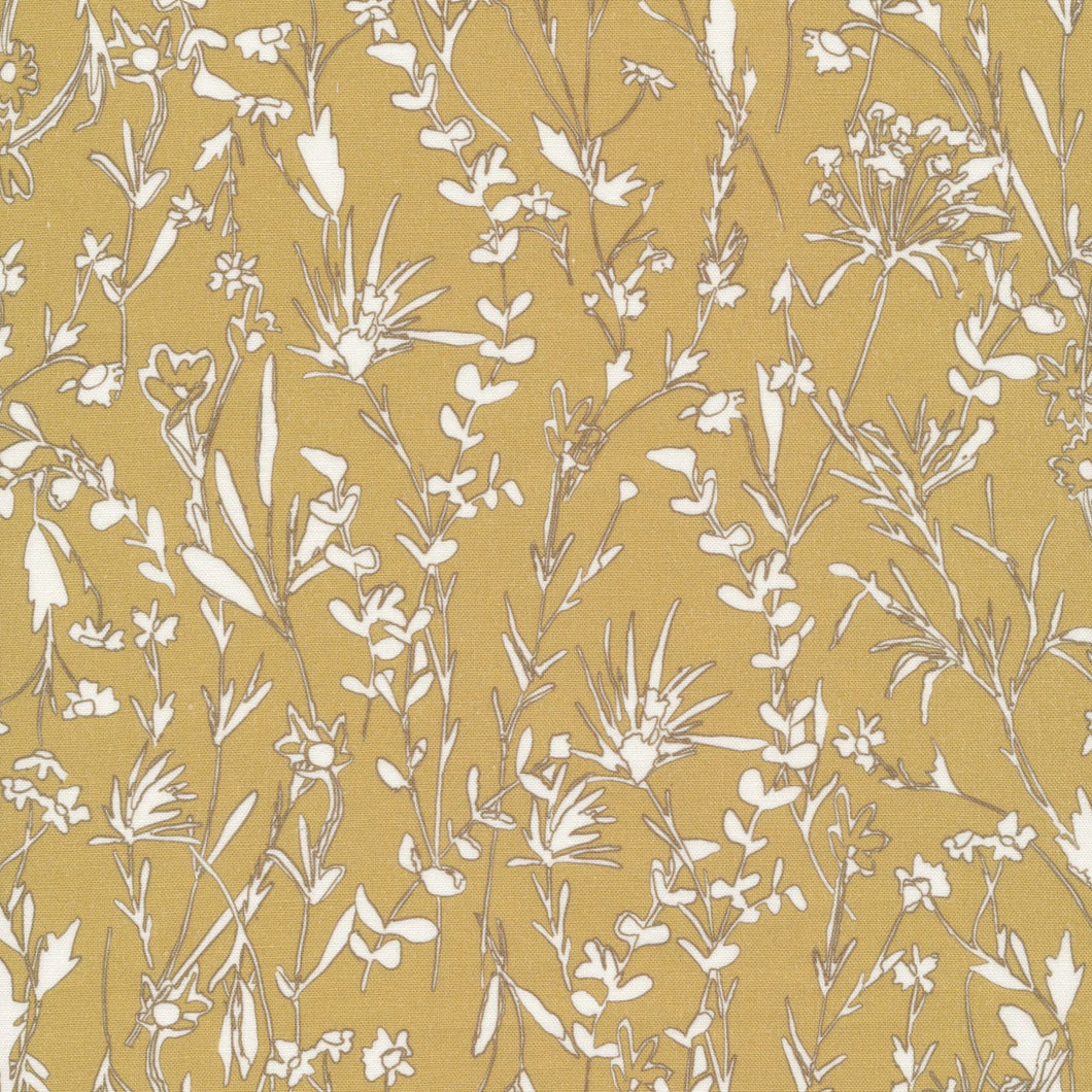 Citron Blooms Organic Quilting Cotton