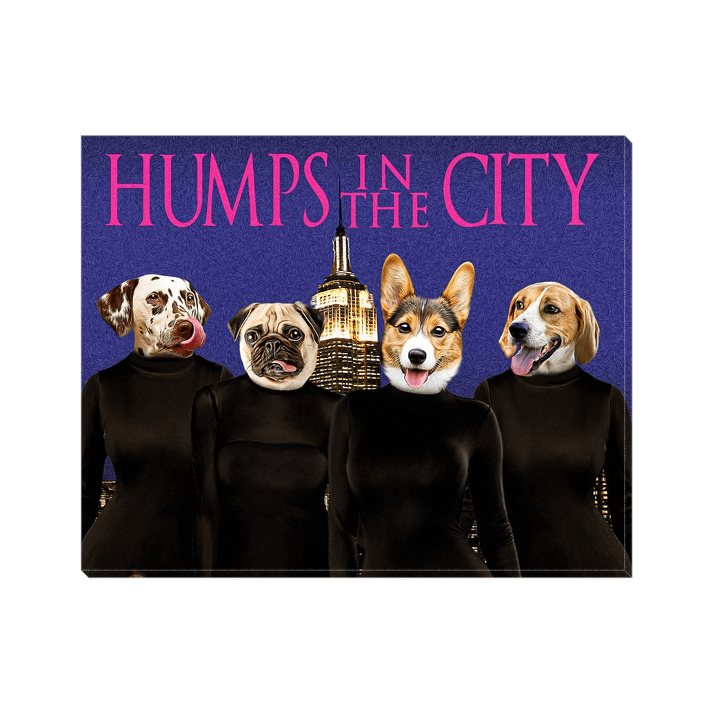 'Humps in the City' Personalized 4 Pet Canvas