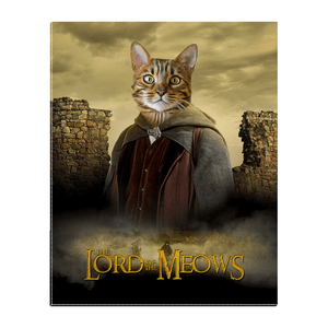 'Lord Of the Meows' Personalized Pet Standing Canvas
