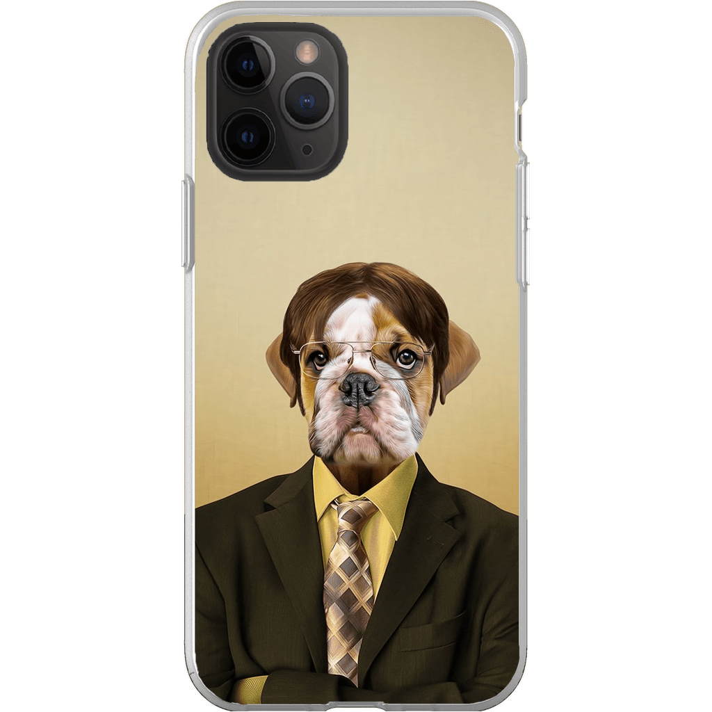 'Dwight Woofer: The Pawfice' Personalized Phone Case