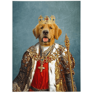 'The King' Personalized Pet Blanket