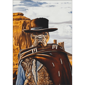 'The Good the Bad and the Furry' Personalized Pet Poster