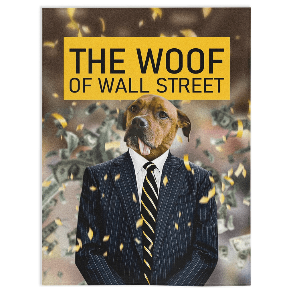 'The Woof of Wall Street' Personalized Pet Blanket