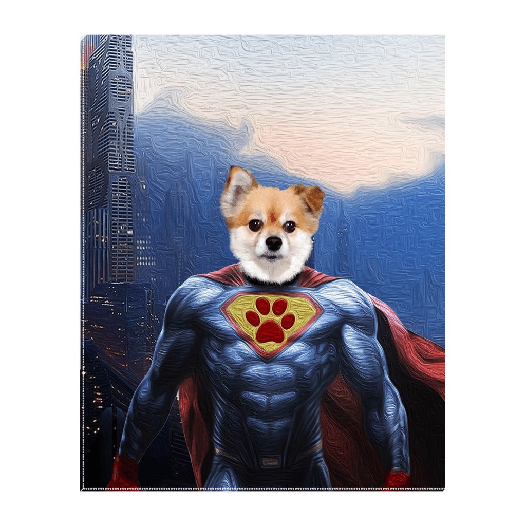'The Super Dog' Personalized Pet Standing Canvas