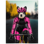 'The Female Cyclist' Personalized Pet Blanket