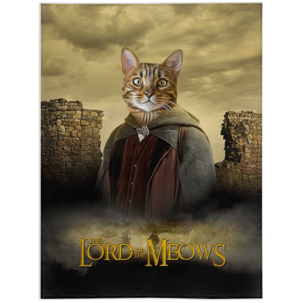 'Lord of the Meows' Personalized Pet Blanket