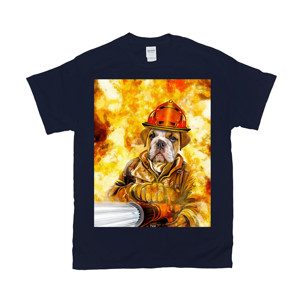 'The Firefighter' Personalized Pet T-Shirt