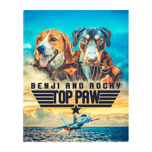 'Top Paw' Personalizable 2 Pet Standing Canvas