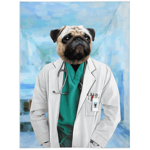 'The Doctor' Personalized Pet Blanket