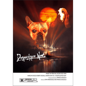 Dogpocalypse Now: 2 Pet Personalized Dog Poster