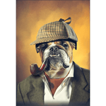 Sherlock Doggo: Personalized Dog Poster