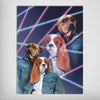 '1980s Lazer Portrait' Personalized 2 Pet Poster