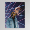'1980s Lazer Portrait' Personalized Pet Blanket