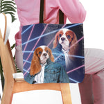 '1980s Lazer Portrait (Female)' Personalized Tote Bag