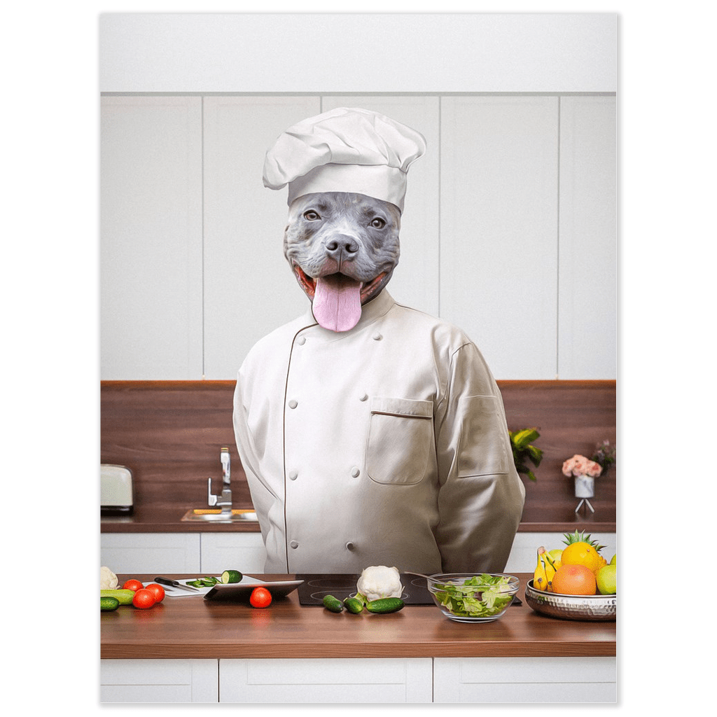 'The Chef' Personalized Dog Poster