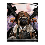 'The Pilot' Personalized Pet Standing Canvas
