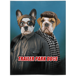'Trailer Park Dogs 2' Personalized 2 Pet Blanket