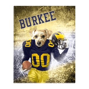 'Michigan Doggos' Personalized Pet Standing Canvas