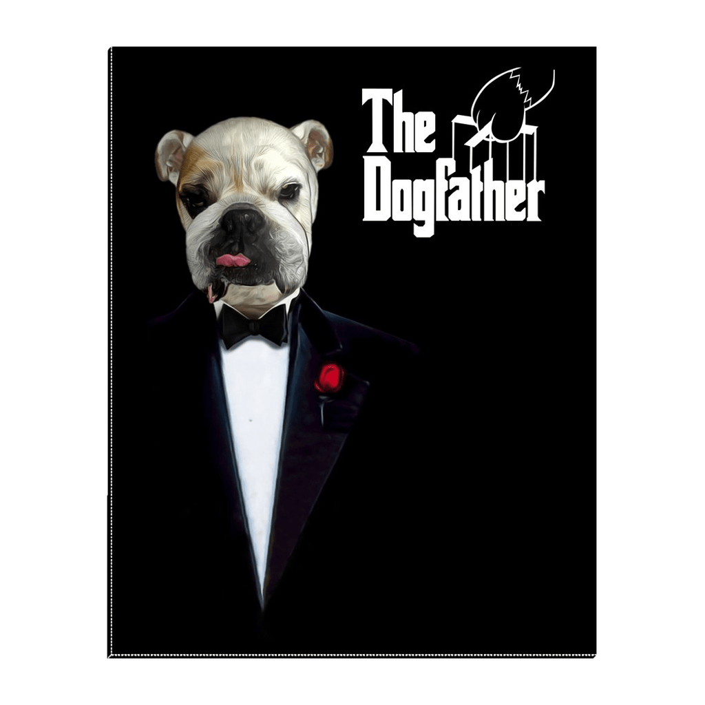 'The Dogfather' Personalized Pet Standing Canvas