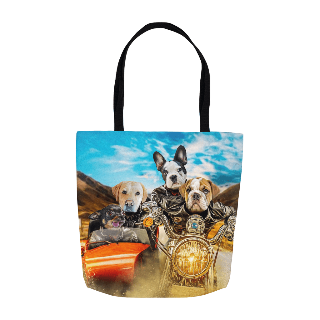 'Harley Wooferson' Personalized 4 Pet Tote Bag