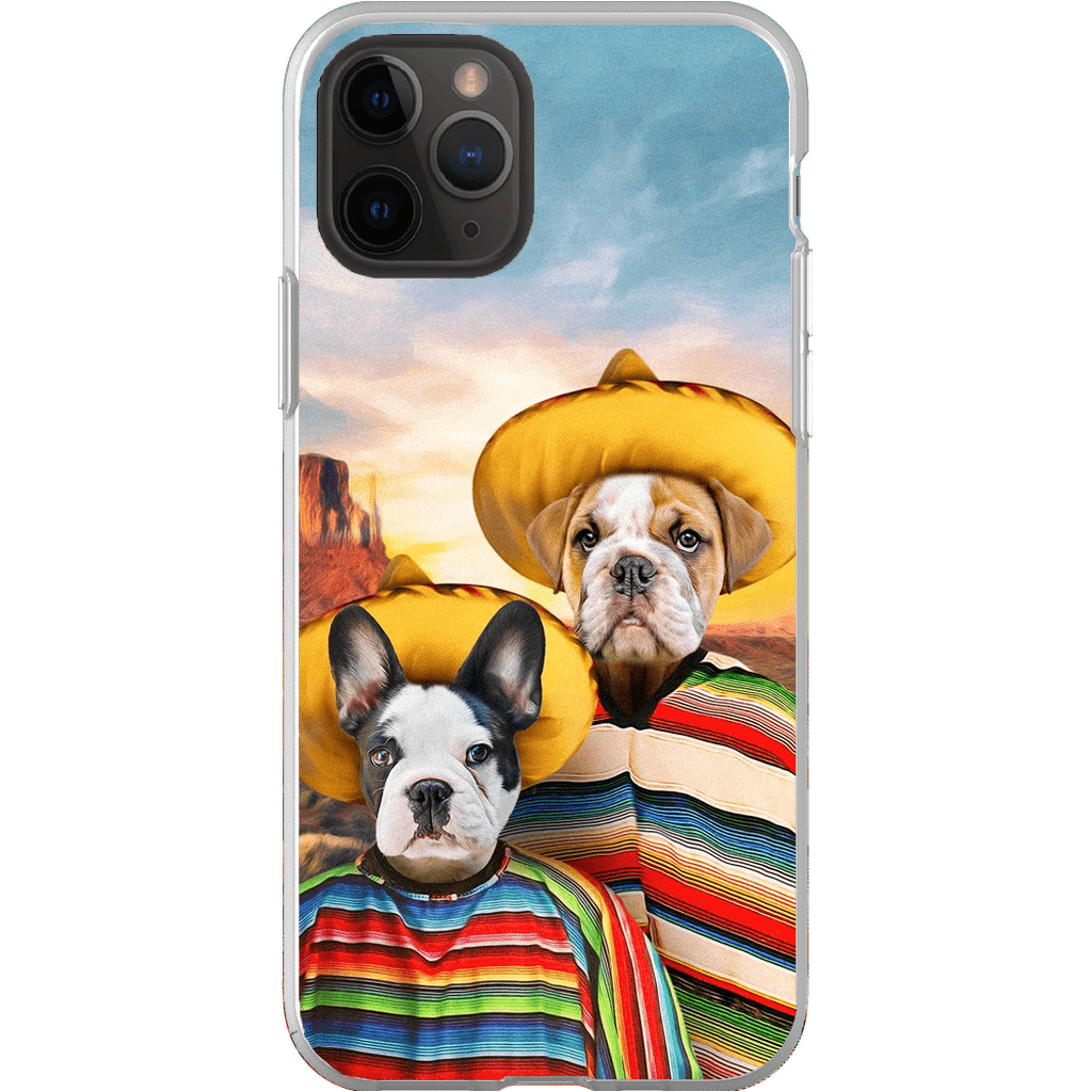 '2 Amigos' Personalized 2 Pets Phone Case