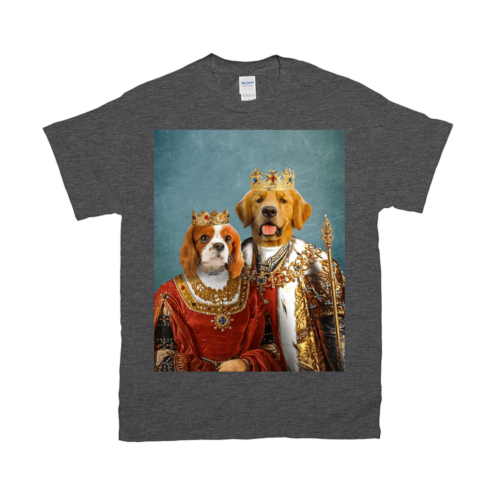 'King And Queen' Personalized 2 Pet T-Shirt
