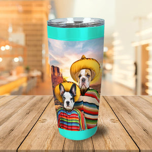 '2 Amigos' Personalized 2 Pet Tumbler