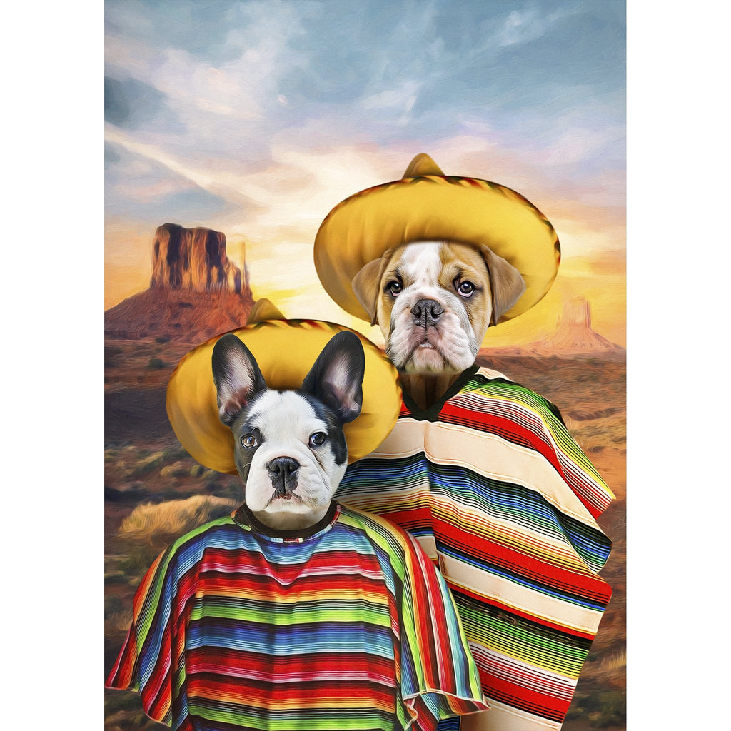 '2 Amigos' 2 Pet Digital Portrait