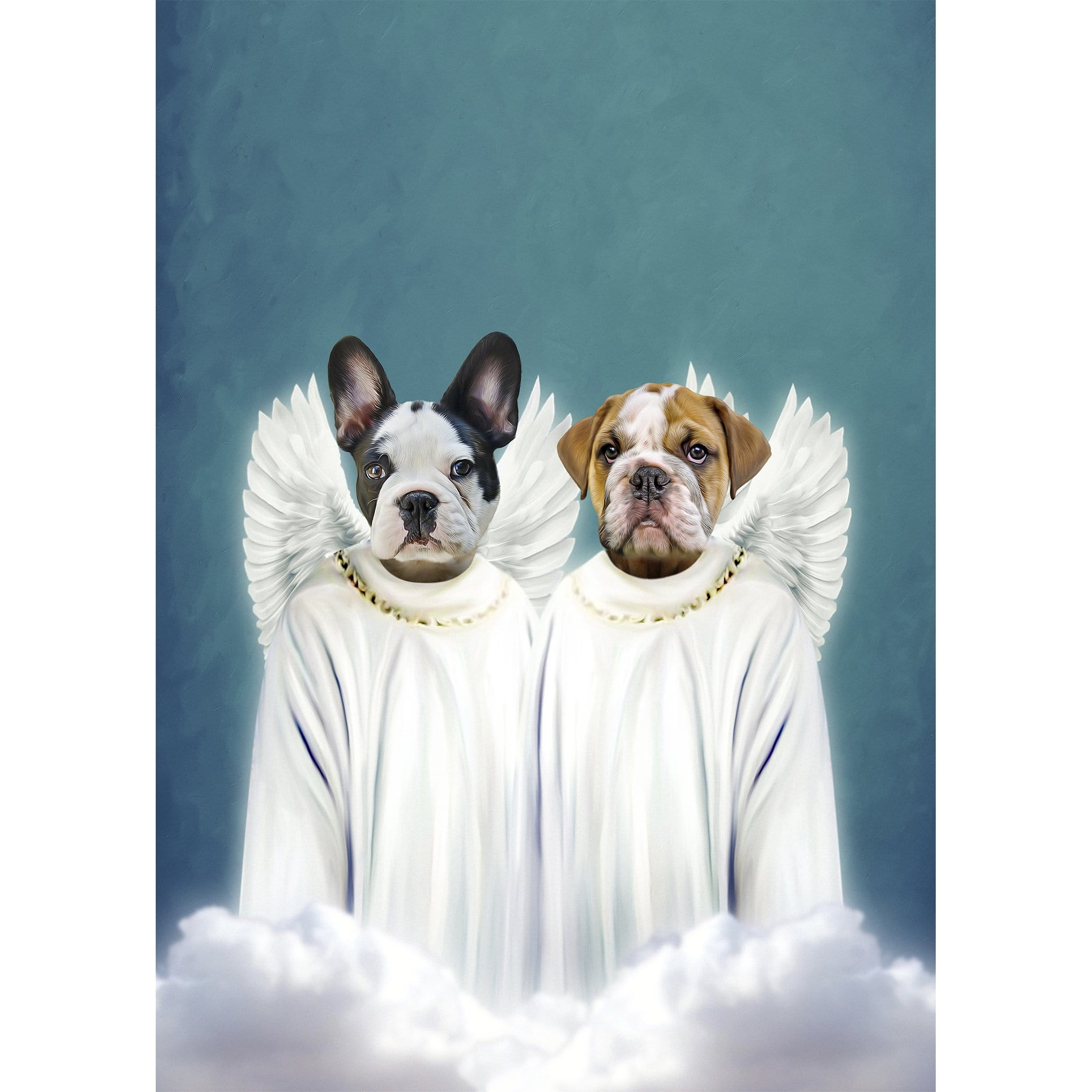 '2 Angels' 2 Pet Digital Portrait