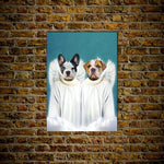 '2 Angels' Personalized Pet Poster