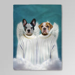 '2 Angels' Personalized 2 Pet Blanket