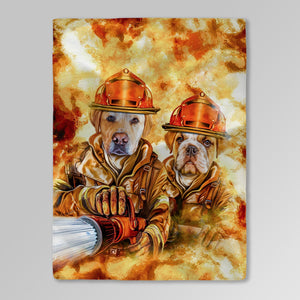 'The Firefighters' Personalized 2 Pet Blanket