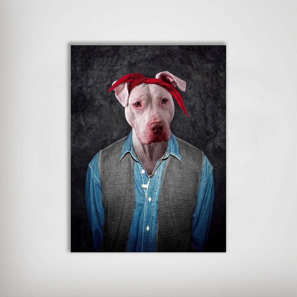 '2Pac Dogkur' Personalized Dog Poster
