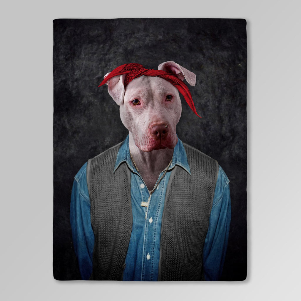 '2Pac Dogkur' Personalized Pet Blanket