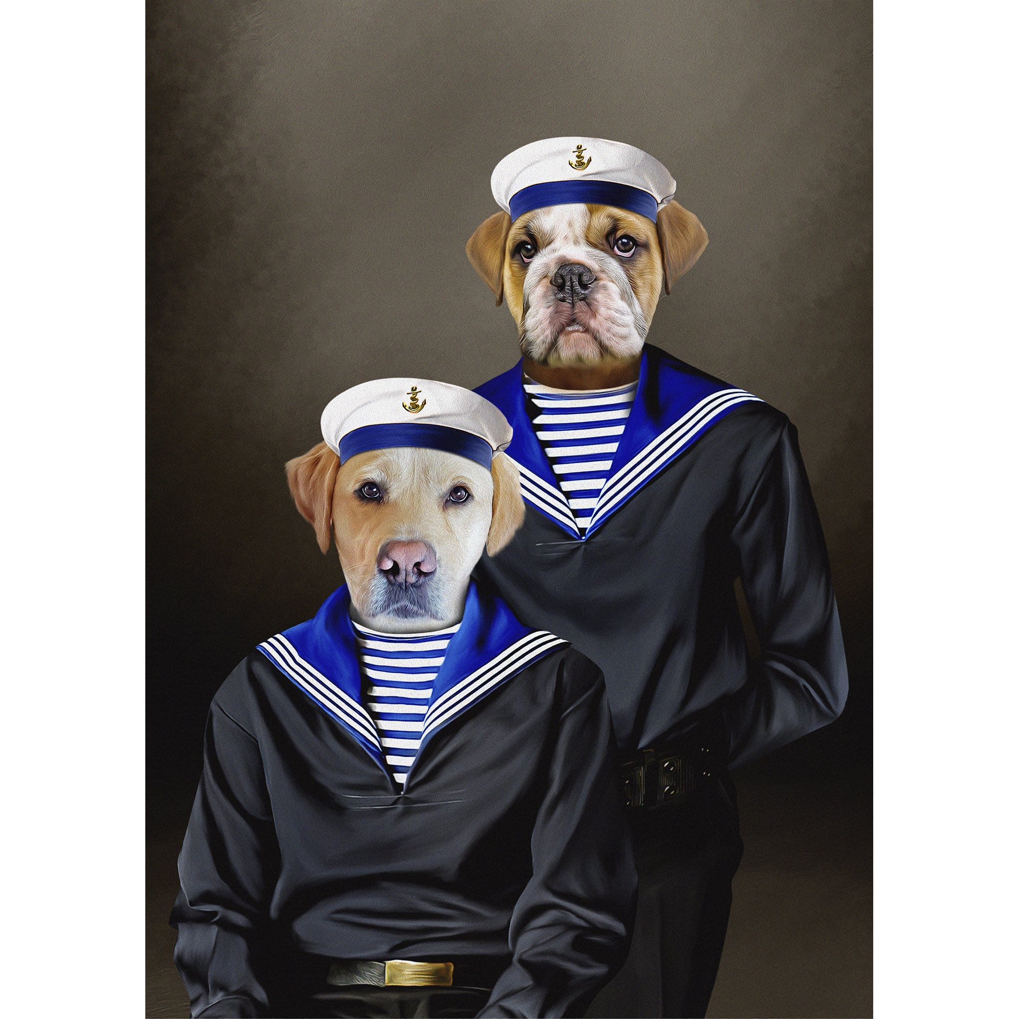 'The Sailors' 2 Pet Digital Portrait